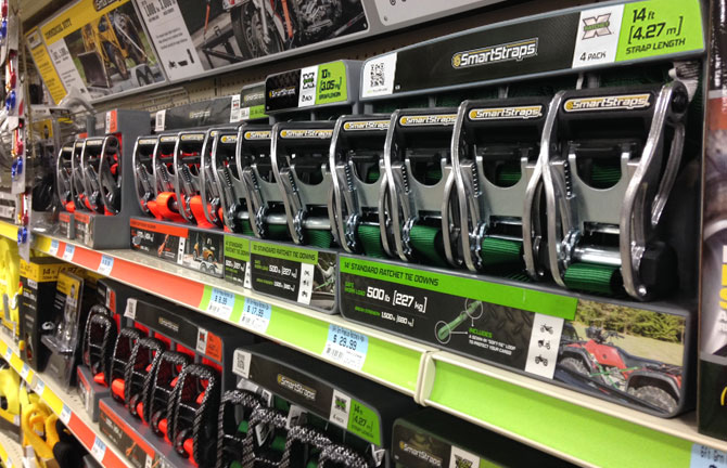 Tractor Supply Company SmartStraps on retail shelf designed by Array Creative