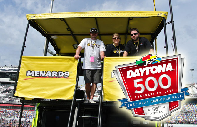 Array Creative team representing SmartStraps at the great american race, the Daytona 500