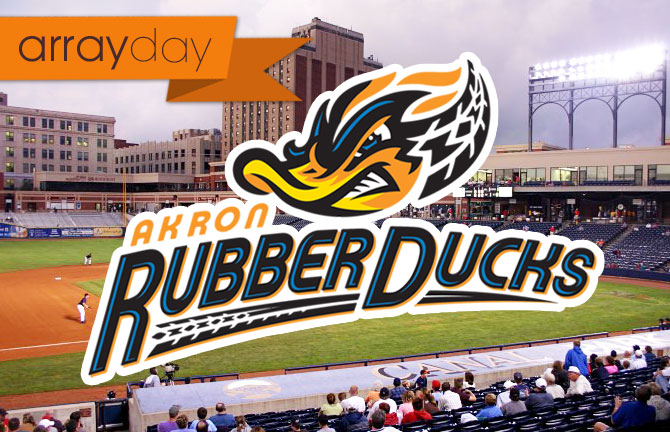 Array Day at Akron Rubber Ducks