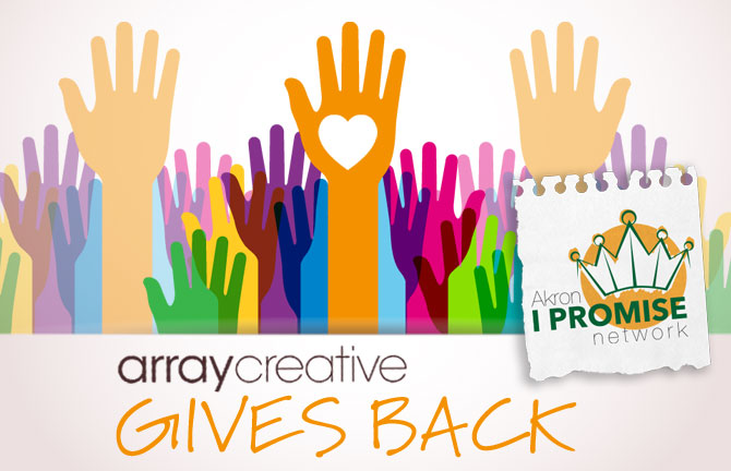 Array Creative Gives Back Akron I Promise Network