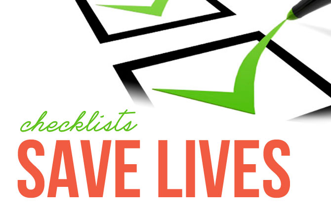 Array Creative Checklists Save Lives