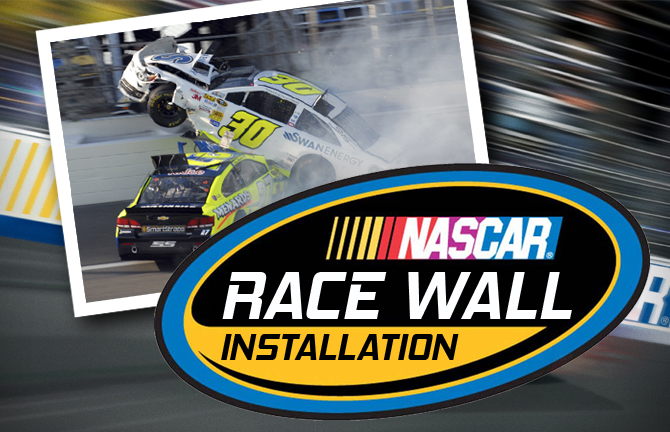 Array Creative NASCAR Race Wall Installation