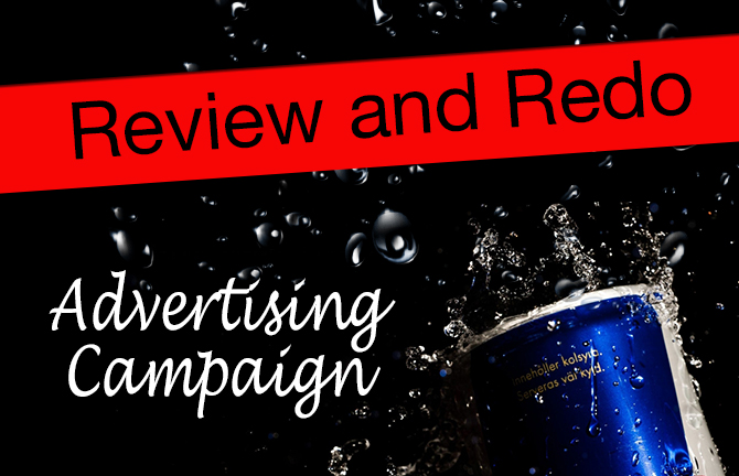 Array Creative review and redo advertising campaign