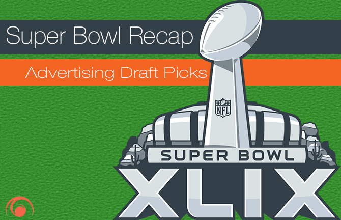 array creative super bowl recap advertising draft picks