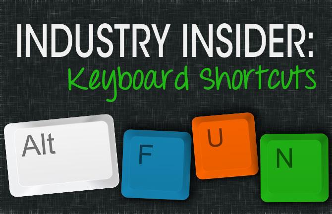 Array Creative Industry Insider keyboard shortcuts