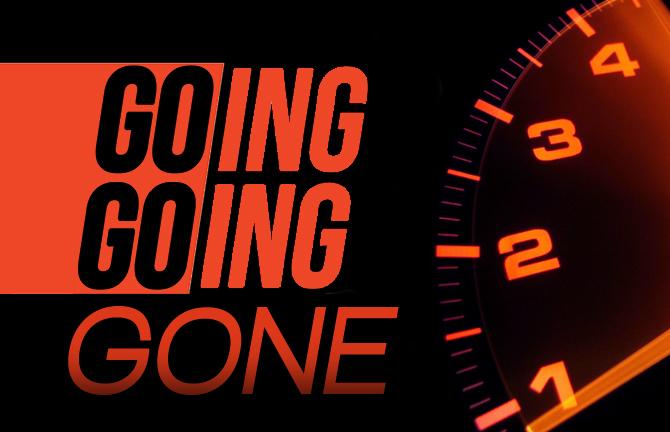 Going Going Gone Speedometer