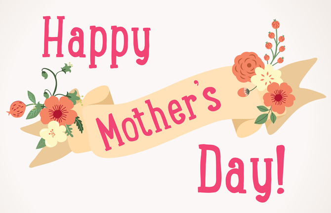floral happy mother's day ribbon