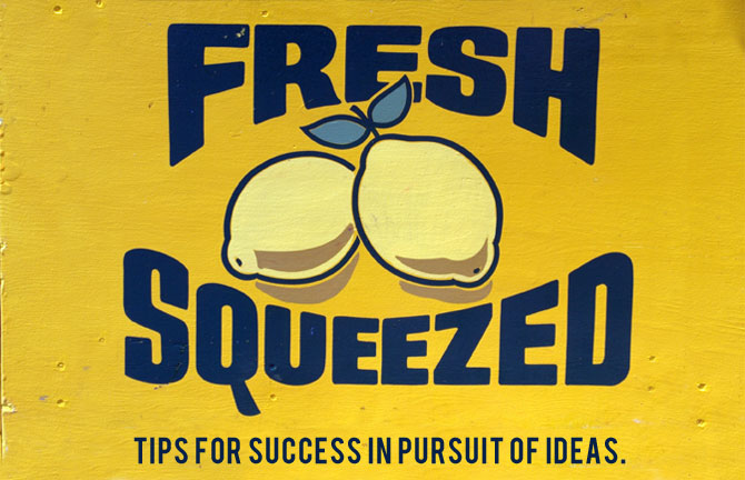 Array Creative's fresh squeezed tips for success in pursuit of ideas