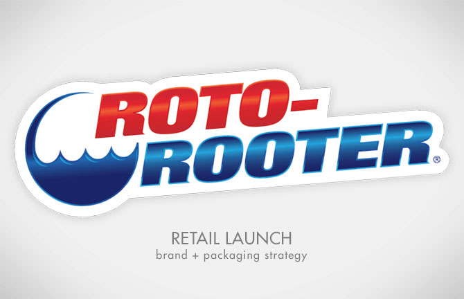One of Array Creative's design projects, Roto-Rooter DIY Plumbing Products, retail launch, brand, packaging strategy
