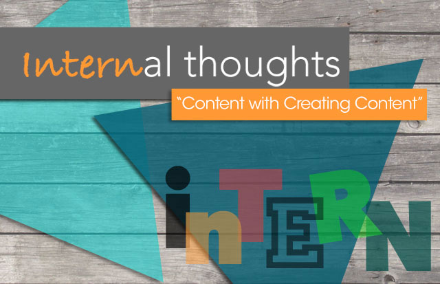 Array Creative Internal Thoughts, content with creating content