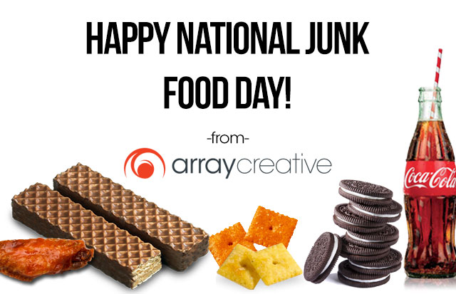 Happy national junk food day from array creative wings nutty bars cheese its oreos coca cola